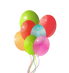 Balloon background vector