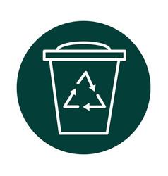Bin recycle alternative sustainable energy block vector