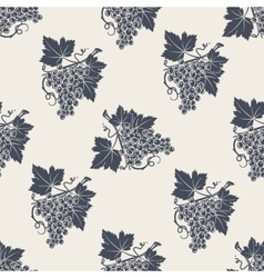 Branch of grape with leaves seamless pattern vector