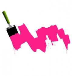 brush paint and splash vector image