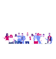 businesspeople group standing together using vector image