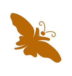 butterfly people logo design template isolated vector image