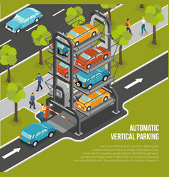 car parking poster vector image