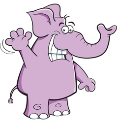 Cartoon Elephant Waving vector image