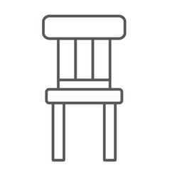 chair thin line icon furniture and home stool vector image