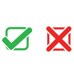Check mark wrong mark icon vector