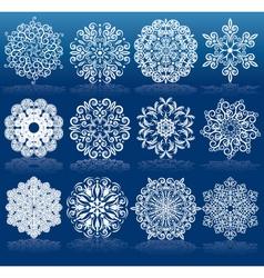 Christmas Design Snowflakes vector
