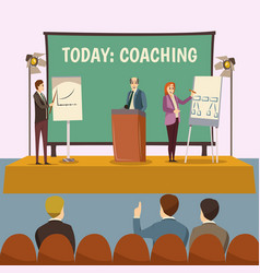 Coaching lecture vector
