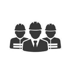 Construction workers group icon images vector