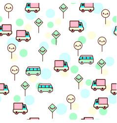 Cute bus car vector