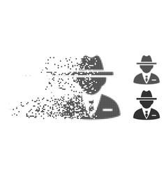 Decomposed pixel halftone agent icon vector