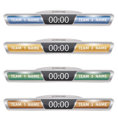 Digital scoreboards set vector