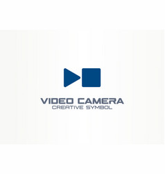 Digital video camera creative symbol concept play vector