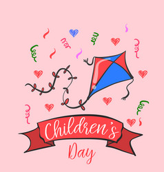 doodle childrens day cute style collection vector image