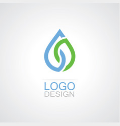 Drop water eco logo vector
