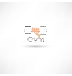 dumbbell gym vector image