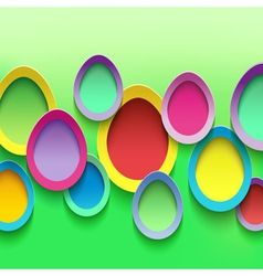 easter background with colorful egg vector image