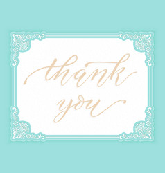 Elegant gratitude card invitation vector