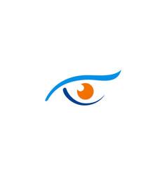 Eye sharp monitoring logo vector