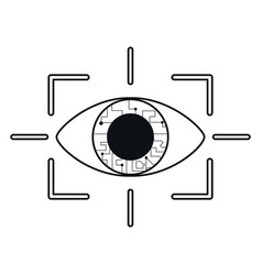 Eye virtual reality concept thin line vector