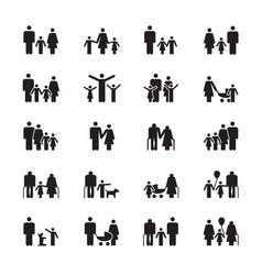 family pictograms grandparents father mother vector image
