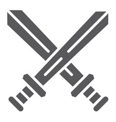 fighting glyph icon game and play crossed swords vector image