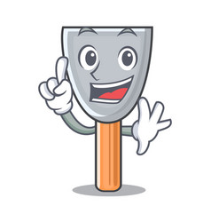 Finger vintage putty knife on mascot vector