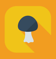 Flat modern design with shadow icons fungus vector