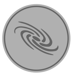Galaxy silver coin vector