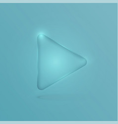 Glass realistic play button vector