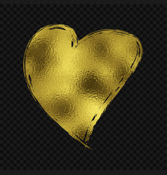 gold glitter heart vector image