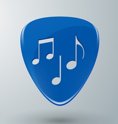Guitar Pick with Music Notes Concept vector