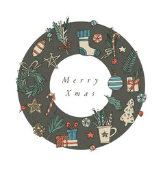 Hand draw design for christmas greetings vector