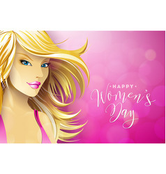 Happy womens day greeting card design with sexy vector