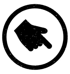 Index Finger Right Down Direction Icon Rubber vector