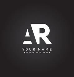 Initial letter ar logo - simple business logo vector