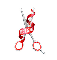 isolated barbershop composition vector image