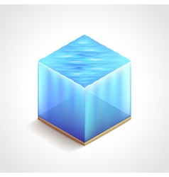 Isometric water cube vector image vector image