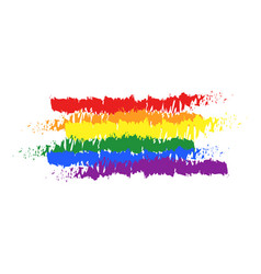 lgbt pride color flag brush rainbow color lgbt vector image