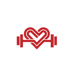 love fit logo vector image