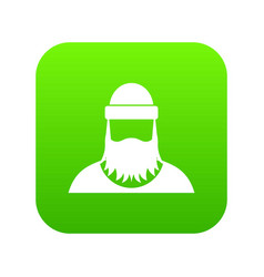 lumberjack icon digital green vector image