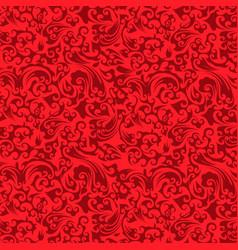 luxury damask background vector image