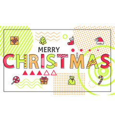 merry christmas festive color vector image