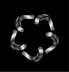 Metallic design element or logo vector image