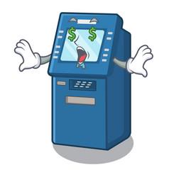 money eye atm toys on cartoon cupboard vector image
