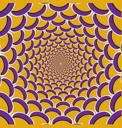 Optical purple crescent vector