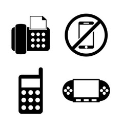 phones telephone simple related icons vector image