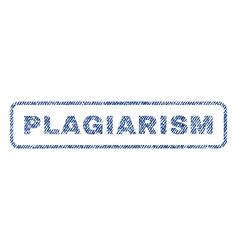 Plagiarism textile stamp vector