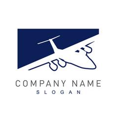 plane logotype vector image