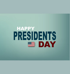 presidents day in usa poster president day eps10 vector image